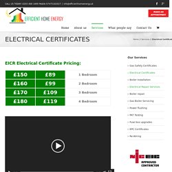 Electrical Certificates for Landlords from £89