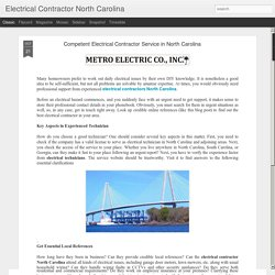 Licensed Electrical Contracting Services North Carolina