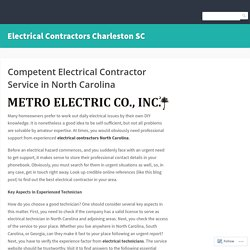 Full Service Nouth Carolina Electrical Contractors