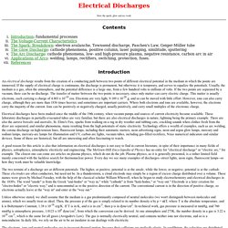 Electrical Discharges