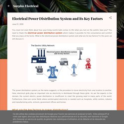Electrical Power Distribution System and its Key Factors