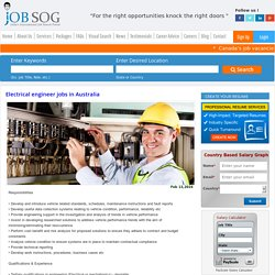 Electrical engineer jobs in Australia