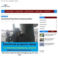 Latest Electrical Project Ideas for Engineering Students