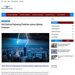 Most Electrical Engineering Protection systems Lightning Conductors
