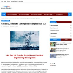 Get Top 100 Schools for Learning Electrical Engineering in USA