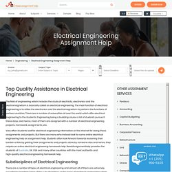 Electrical Engineering Assignment Help in Australia, USA & UK