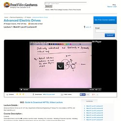 Advanced Electric Drives Course, IIT Kanpur Electrical Engineering Video Tutorials, S.P. Das