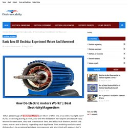Basic Idea Of Electrical Experiment Motors And Movement