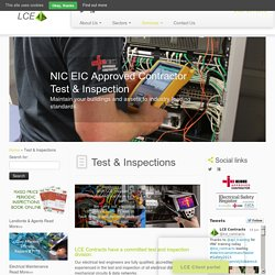Periodic Electrical Safety Test Inspections - LCE CONTRACTS