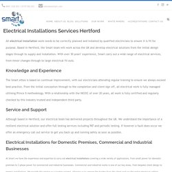 Electrical Installations Services In Hertford By Smartplc