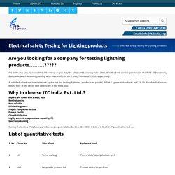 Electrical safety Testing for Lighting products
