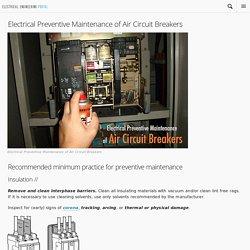 Electrical Preventive Maintenance of Air Circuit Breakers