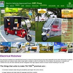 Electrical Rickshaw - E Rickshaw Manufacturers Mumbai, India