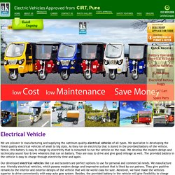 Electrical Vehicles Manufactures, Suppliers Electrical Vehicles in Mumbai