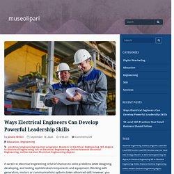 Ways Electrical Engineers Can Develop Powerful Leadership Skills – museolipari
