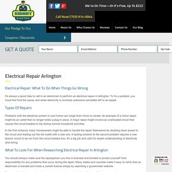 Electrical Repair: What to Do When Things Go Wrong