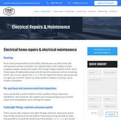 Electrical Repairs and Maintenance