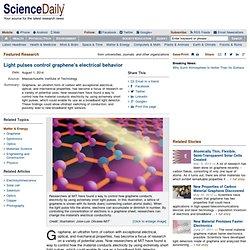 Light pulses control graphene's electrical behavior -- ScienceDaily