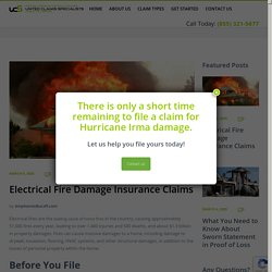 Electrical Fire Damage Insurance Claims - United Claims Specialists