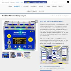 Pronk Technologies INC Offers World's Smallest Electrical Safety Analyzer