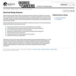 Electrical Design Engineer / Jobs / Degrees to Careers / Students