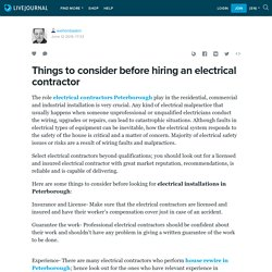 Things to consider before hiring an electrical contractor