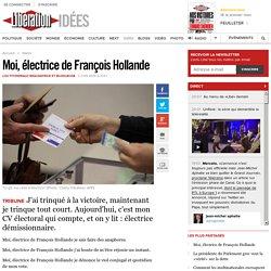 Moi, électrice de François Hollande