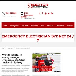 Emergency Electrician Sydney - 24 hour Electrician