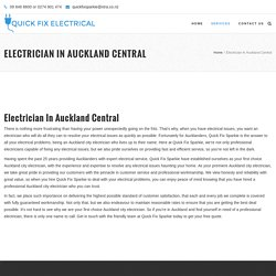 Problem Solving Electrician in Auckland Central