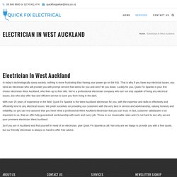 West Auckland Electrician - QuickFixSparkie