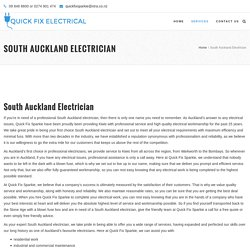 South Auckland Electrician At QuickFixSparkie