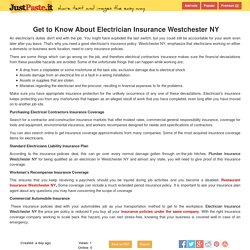 Get to Know About Electrician Insurance Westchester NY - justpaste.it