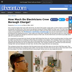 How Much Do Electricians Crow Borough Charge?