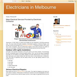 Major Electrical Services Provided by Electrician Contractor