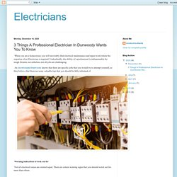 Electricians: 3 Things A Professional Electrician In Dunwoody Wants You To Know