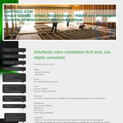 Assistance batiments connectés - A. Gérard - Artisan (Bio) électricien - Interfacez votre installation KNX avec vos objets connectés