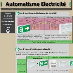 Electricité & Automatismes - Eclairage de sécurité