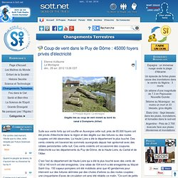 Coup de vent dans le Puy de Dôme : 45000 foyers privés d'électricité