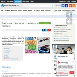 Tarif social d'électricité : conditions et montant