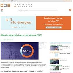 L'électricité en France : les grands chiffres de la production et de la consommation en 2015