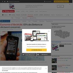 Économie d'électricité. 83% des Bretons se déclarent concernés