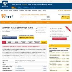 Société ELECTRICITE RESEAU DISTRIBUTION FRANCE à COURBEVOIE (Chiffre d'affaires, bilans, résultat) avec Verif.com - Siren 444608442