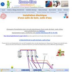 L'électricité dans la salle de bain, schéma des circuits d'installation électrique
