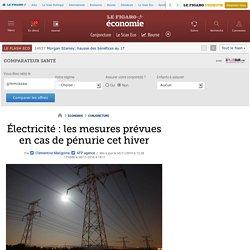 Électricité : les mesures prévues en cas de pénurie cet hiver