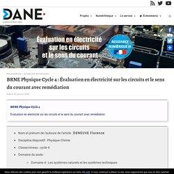 BRNE Physique Cycle 4 : Évaluation en électricité sur les circuits et le sens du courant avec remédiation