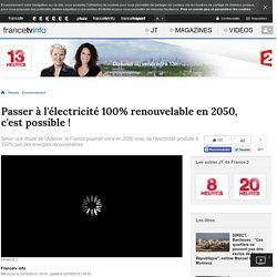 Passer à l'électricité 100% renouvelable en 2050, c'est possible !