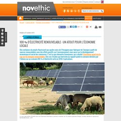100 % d'électricité renouvelable : un atout pour l'économie locale