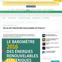 Où en est l'électricité renouvelable en France ?