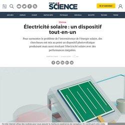 Électricité solaire : un dispositif tout-en-un