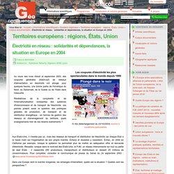 Électricité en réseau : solidarités et dépendances, la situation en Europe en 2004